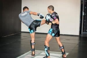 A photo of Panicos training at one of the best UK Muay Thai Gyms All Powers Gym