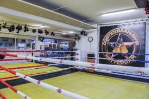 A photo of inside the Oosterbaan gym in Rotterdam