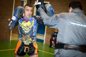 A photo of Ilias Bulaid from the Dutch Kickboxing Documentary 'We Bring the Fight'