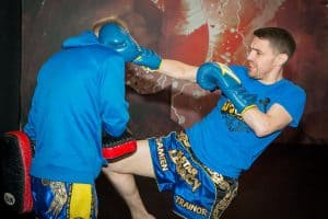 A photo of Damien Trainor from his Fighting Concepts for World Class Striking volume