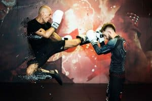A photo of black belt David Breed from his Freestyle Kickboxing volume