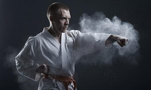 A photo of a Karate student from the blog on Martial Arts for beginners tips