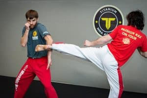 A photo of Marcus Lewis from the blog post Karate Sparring Drills - Fast Punches to set up BIG Kicks
