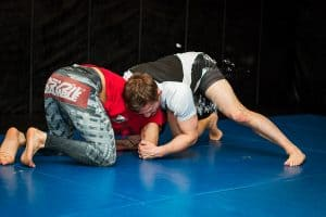 A photo of Brad 'One Punch' Pickett UFC fighter coaching Wrestling for MMA