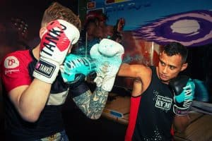 A photo of Panicos Yusuf from his volume Learn Muay Thai - Training to become Elite