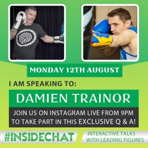 A photo of Damien Trainor from the Instagram Live #InsideChat Series