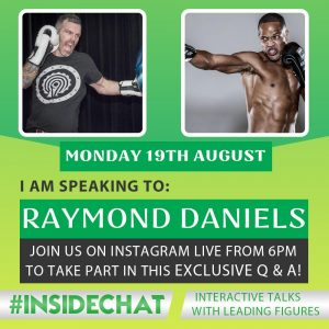 A photo of Raymond Daniels from the Instagram Live #InsideChat Series