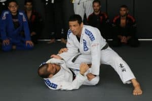 A photo of a BJJ instructor leading a training camp at Evolve MMA in Singapore