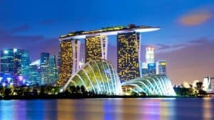 A photo of the hotel Marina Bay Sands in Singapore