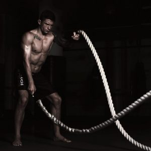 A photo of an athlete on a training camp preparing for ONE Championship at Evolve MMA in Singapore
