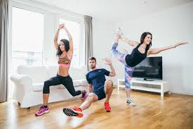 A photo from the blog post on how to improve your fitness at home