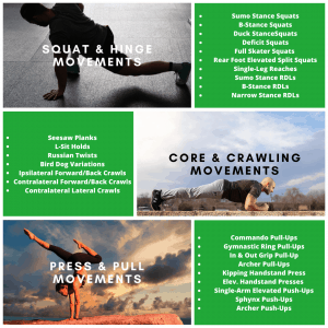 An info graph from the blog post on circuit training for Martial Arts - Guide to Bodyweight exercise