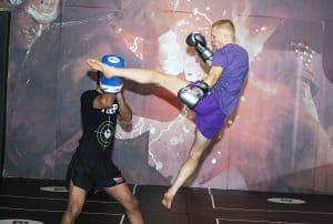 A photo of Paul Karpowicz using Advanced Training Drills in Muay Thai for Speed and Power