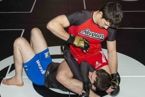 A photo from the Peter Irving volume Jiu Jitsu for MMA - Adapting Grappling for the Cage